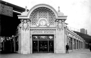 The Chicago Transit Authority is investing in a $203 Million reconstruction of the Wilson Red Line Station in the Uptown neighborhood. The arch above the clock over this entrance will be rebuilt after being down for approximately 50 years.  Image courtesy of the CTA's website about the project: http://www.transitchicago.com/assets/1/planning/Wilson_Rendering_2012_looking_northwest_at_Wilson_and_Bway.jpg