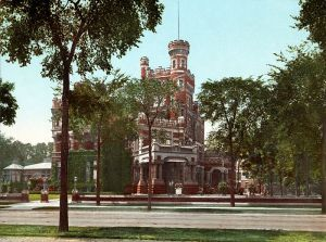 Residence of Mr. Potter Palmer, Chicago, a 1900 photochrom print of the Palmer Mansion on Lake Shore Drive source: http://en.wikipedia.org/wiki/File:Residence_of_Mr._Potter_Palmer,_Chicago.jpg
