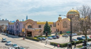 The Ukrainian Cultural Center at Oakley and Chicago shows how close the neighborhood is to the center of the city. Images source: http://www.uccchicago.org/center-images/