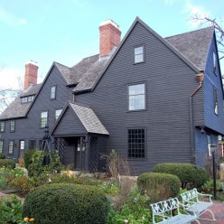 Heres the House of the Seven Gables in Salem, MA. Fun game: How many can you spot?