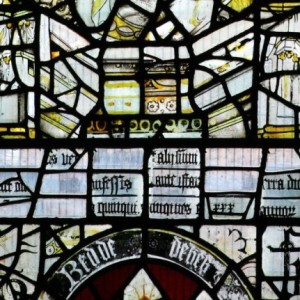 Though the Reformation meant a lot of priceless stained glass was smashed to bits, it also meant that some crafty 16th-century folks reused those bits in domestic windows. Neat, right?