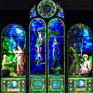 Did you know theres some A+ John LaFarge glass in Detroit? This window was commissioned for the First Unitarian Church now the Detroit Institute of Arts).