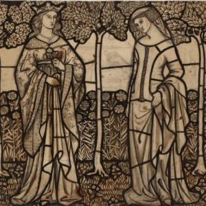William_Morris_Guinevere_and_Iseult_-_cartoon_for_stained_glass_1862