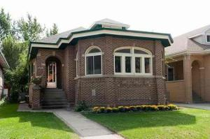 A classic Chicago bungalow -- note the fun brick.