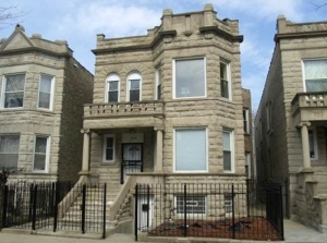 A typical Chicago greystone two-flat. They come in all styles.