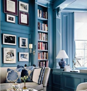 Theres no denying thats a sexy room.  But did that millwork really need a blue-out?