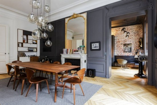Opposites Attract Historic Homes Modern Furniture